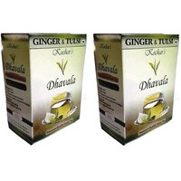 Dhavala Green Tea 200 Gms With Natural Tulsi & Ginger-set Of 2