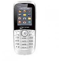 Micomax C210 White Mobile With 2 Extra Coloured Back Panels Cdma Phone