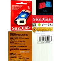 SanDisk 8Gb Micro SDHC Card (Original)