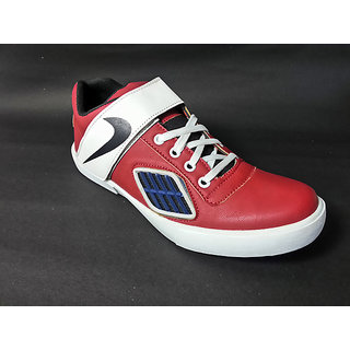 STYLE-ONN TRENDY CASUAL SHOES RED/WHITE