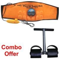 KS Combo Of Sauna Belt With Tummy Trimmer