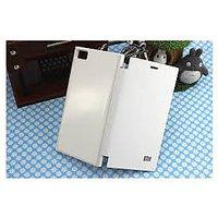 White LEATHER FLIP CASE COVER For Xiaomi Mi3 Flip Cover Case