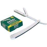 Utopia Care Stainless Steel Straight Edge Barber Razor With 100 Derby Blades