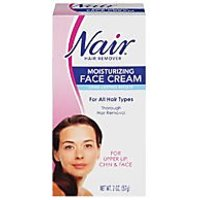 Nair Hair Removal Cream For Face With Special Moisturizers, 2-Ounce Bottles