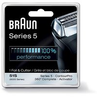 Braun Series 5 Combi 51S Foil And Cutter Replacement Pack (Formerly 8000 360
