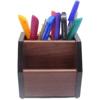 REVOLVING WOODEN MOBILE PEN STAND PEN HOLDER - OFFICE UTILITY & CORPORATE GIFT