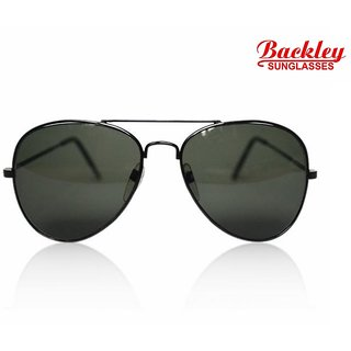 Backley BS -1906  Black Gray Aviator Unisex Sunglasses