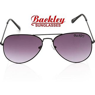 Backley BS-1907 Black Purple Aviator Unisex Sunglasses
