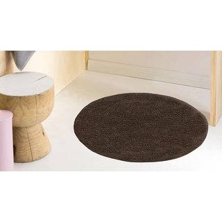 Azaani Beautiful Beige Rounded Cotton Bathmat
