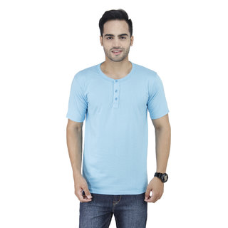 Blue Graphic Junkie T Shirts for Mens