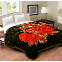 Spangle Yarn Mink Multicolor Blanket Double Bed
