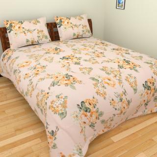 Designer Printed Glased Cotton Bed Sheet