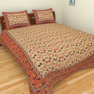 Jaipuri Block Print Cotton Bedsheet Double