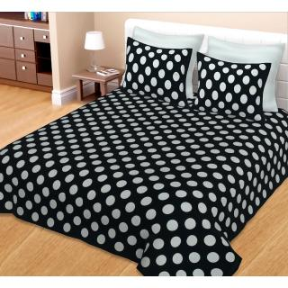 Spangle Designer Sanganeri Print Cotton Bedsheet Double Bed with 2 pillow cover