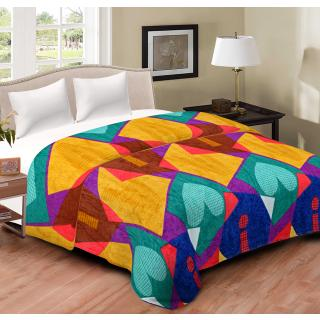 Spangle Printed Multicolor Flannel Blanket Top sheet