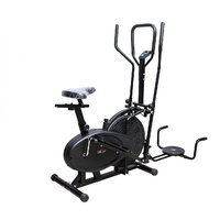 Lifeline Orbitrac 4 In 1 With Dips + Twister  Exercise Bike With Digital Counter
