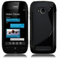 Premium Quality S-line Silicone Back Case For Nokia Lumia 710