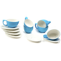 FENNEL 12PC CERAMIC CUPS & SAUCER SET- BLUE