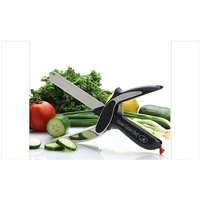 Easy Chops and slices Vegetables Fruits Cutter Scissor Clever Cutter 2 in 1 Chopper