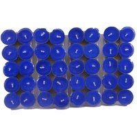 Pack Of 40 Scented Blue Tealight T-lite Candles For Diwali Birthday Party Gift