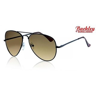 Backley BS-1928 Black Chocklate Aviator Unisex Sunglasses