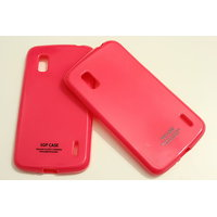 SGP Soft Silicon Back Cover Case Pouch For LG Google Nexus 4 LG E960-pink