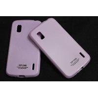 SGP Soft Silicon Back Cover Case Pouch For LG Google Nexus 4 LG E960-purple