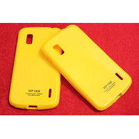 SGP Soft Silicon Back Cover Case Pouch For LG Google Nexus 4 LG E960-yellow
