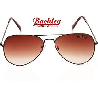 Backley BS-1932 BROWN BROWN Aviator Unisex Sunglasses