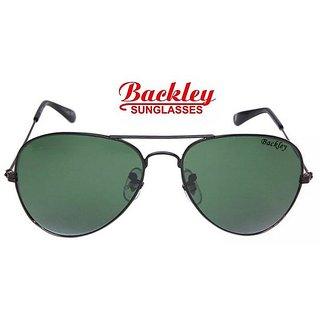 Backley BS-1934 BLACK GREEN Aviator Unisex Sunglasses