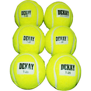 Green Tennis Cricket Ball Pack of 6 ASSORTED NAME
