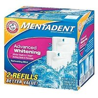 Mentadent Toothpaste, Advanced Whitening, 2- 5.25 Oz. Packages  (Pack Of 3)