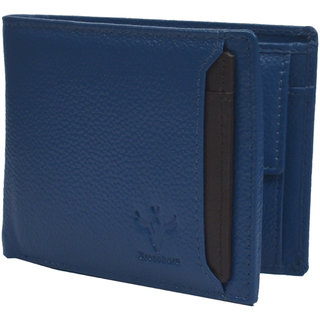 Krosshorn Blue Hunter Leather Wallet for Men