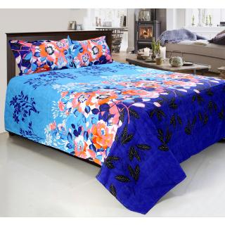 Home Castle 3D Printed Double Bedsheet With 2 Pillow Covers