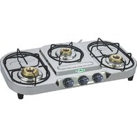EELLEE 3 Burner Stainless Steel Gas Stove ELE-3044