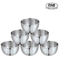 PNB 6 Pcs Apple Bowl(Katoori) Set Large