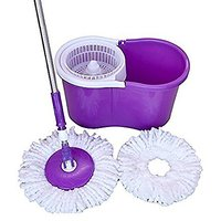 Easy mop 360 Degree Magic Spin Mop For Fast Easy Cleaning with 2 Microfiber Heads Assorted Colors