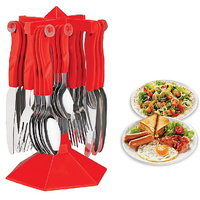 Trendy Cutlery Set With Stand - 24 Pcs (AB - 107)