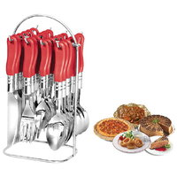 Deluxe Cutlery Set With Stand - 24 Pcs (AB - 110)