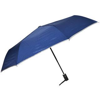 Murano Auto Open Golden Handle 3 Fold Fashion Blue Color Umbrella
