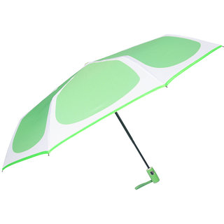 Murano Auto Open Auto Close 3 Fold Screen Print Light Green Umbrella