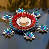 Floating Diya Set With One Big And Six Small Diya Candles - Unique Arts