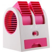 Portable Mini Air Conditioner Dual-Port Fan Rose Red