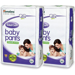 Himalaya TOTAL CARE BABY PANTS DIAPERS-M-28S (Pack of 2)