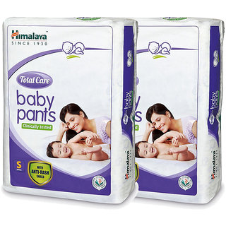 Himalaya TOTAL CARE BABY PANTS DIAPERS-S-54S (Pack of 2)
