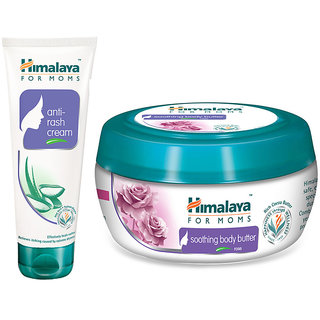 Himalaya For MoMs anti-rash cream 50 g + soothing body butter Rose 100 ml