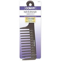 Conair Anti-static Detangling Comb, Colors May Vary