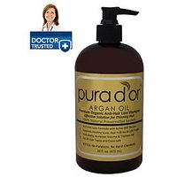 Pura D'or Premium Organic Anti-Hair Loss Shampoo (Gold Label), 16 Fluid Ounce