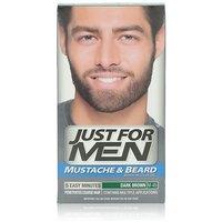 Just For Men Brush-In Color Gel For Mustache & Beard, Dark Brown M-45, 1 Kit,