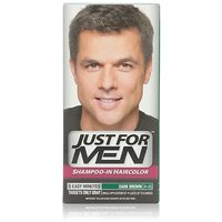 Just For Men Shampoo In Hair Color, Dark Brown H-45, (Pack Of 3)